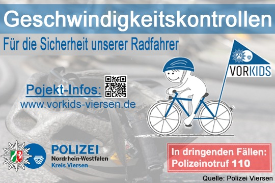 Nehmen Sie Rücksicht! Achten Sie besonders auf die Rad fahrenden Kinder!