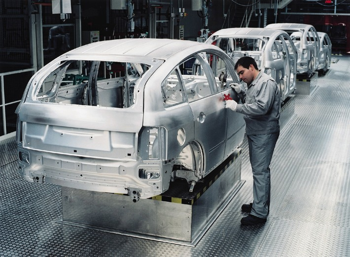 Aluminium expertise at AUDI AG / Audi has built more than 150,000 aluminium cars