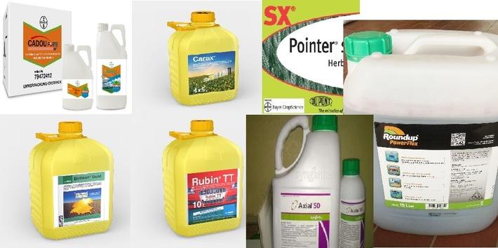 Eine Auswahl der gestohlenen Pflanzenschutzmittel.