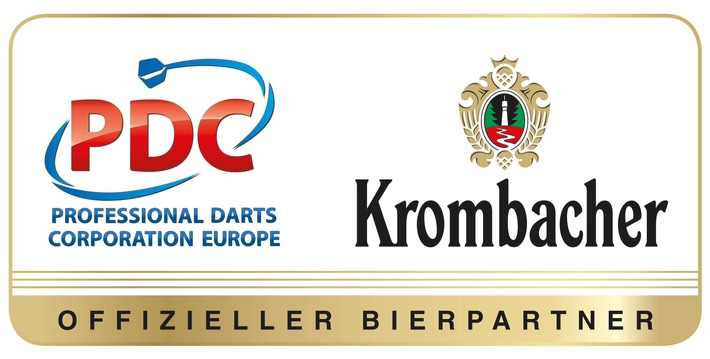 Game on: Krombacher wird offizieller Bierpartner der PDC Europe