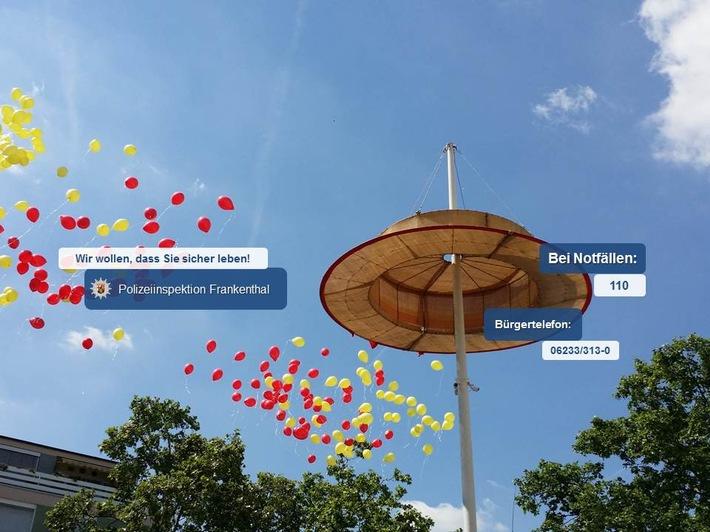 POL-PDLU: Zweiter Veranstaltungstag Strohhutfest Frankenthal