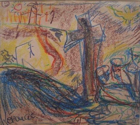 Heute neu in der artnet online Auktion: Der Schriftsteller als Maler / artnet versteigert eine Zeichnung von Kultautor Jack Kerouac