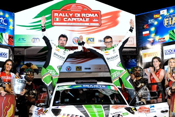 SKODA AUTO Deutschland Duo Kreim/Christian feiert ersten U28-Sieg in der Rallye-EM