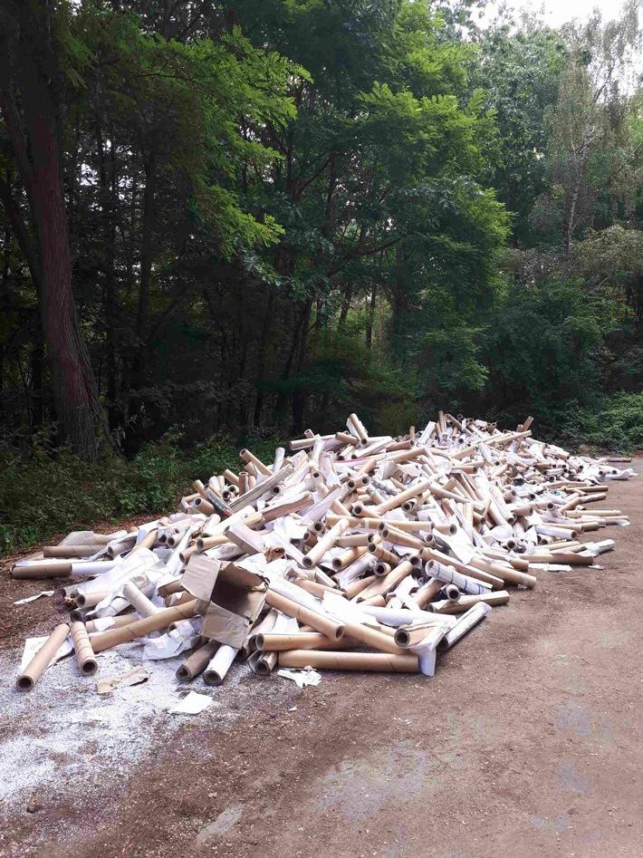Müllablagerung Waldparkplatz