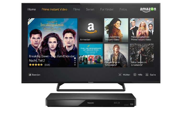 ▷ Amazon Instant Video für Panasonic VIERA TVs 2014 und