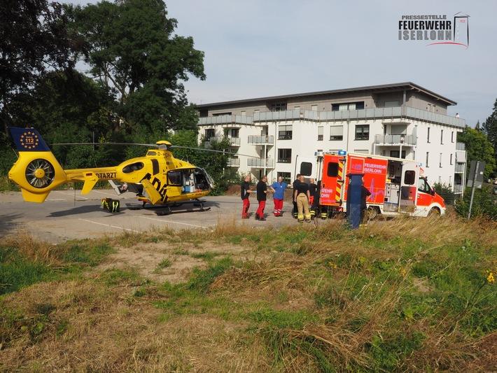 FW-MK: Rettungshubschrauberlandung