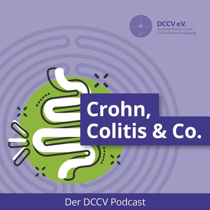 """""""Crohn, Colitis & Co."""" - DCCV startet Selbsthilfepodcast zu chronisch entzündlichen Darmerkrankungen (CED) / Cover des DCCV-Podcasts """"Crohn, Colitis & Co."""", © DCCV e.V. / Weiterer Text über ots und www.presseportal.de/nr/71483 / Die Verwendung dieses Bildes ist für redaktionelle Zwecke honorarfrei. Veröffentlichung bitte unter Quellenangabe: """"obs/DCCV / Morbus Crohn"""""""