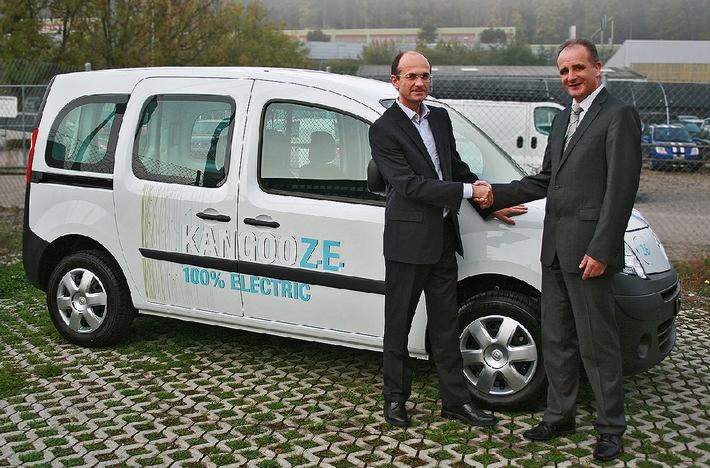 Gemeinde Urdorf setzt auf das Elektrofahrzeug Renault Kangoo Z.E. (BILD/ANHANG)