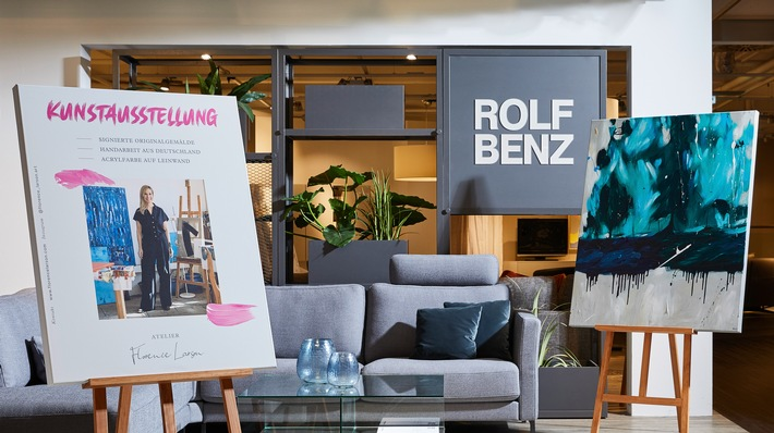 Die Möbelhäuser mit dem Roten Stuhl zeigen, dass Kunst nicht teuer sein muss / XXXLutz bietet Originalgemälde zum kleinen Preis an (FOTO)
