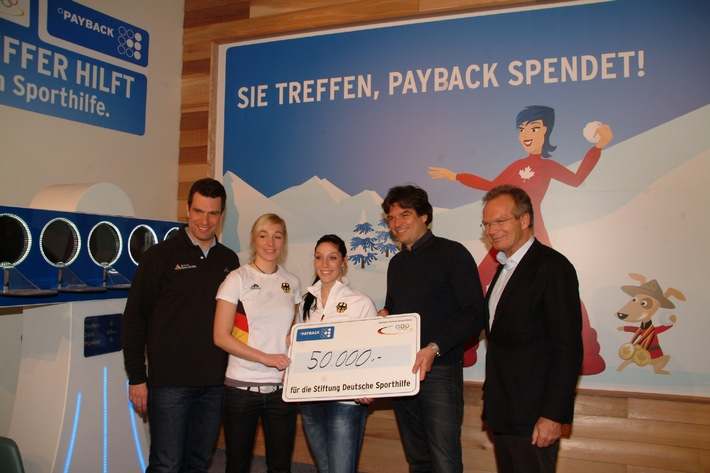 Olympia-Partner Payback spendet 50.000 Euro an die Deutsche Sporthilfe (mit Bild)