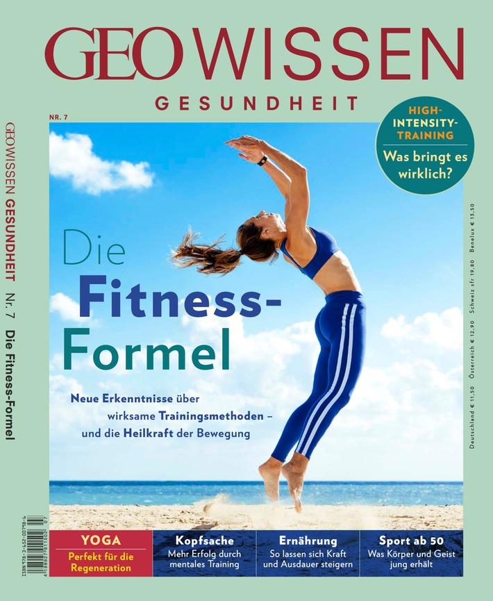 """GEO Wissen Gesundheit Cover Ausgabe 7/18 """"Die Fitness-Formel"""". Weiterer Text über ots und www.presseportal.de/nr/128559 / Die Verwendung dieses Bildes ist für redaktionelle Zwecke honorarfrei. Veröffentlichung bitte unter Quellenangabe: """"obs/Gruner+Jahr, GEO WISSEN GESUNDHEIT"""""""