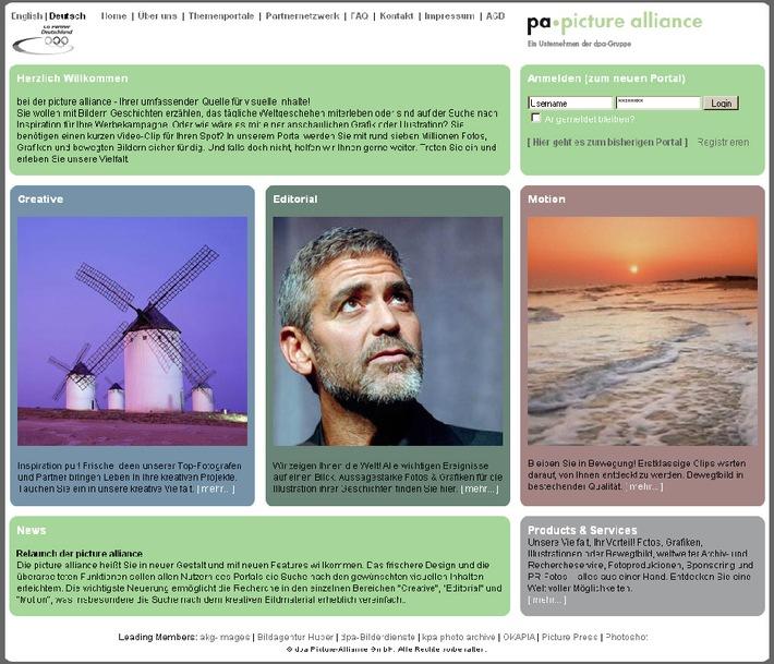 Mehr sehen. besser finden. Neu gestaltetes Bildportal der picture alliance online
