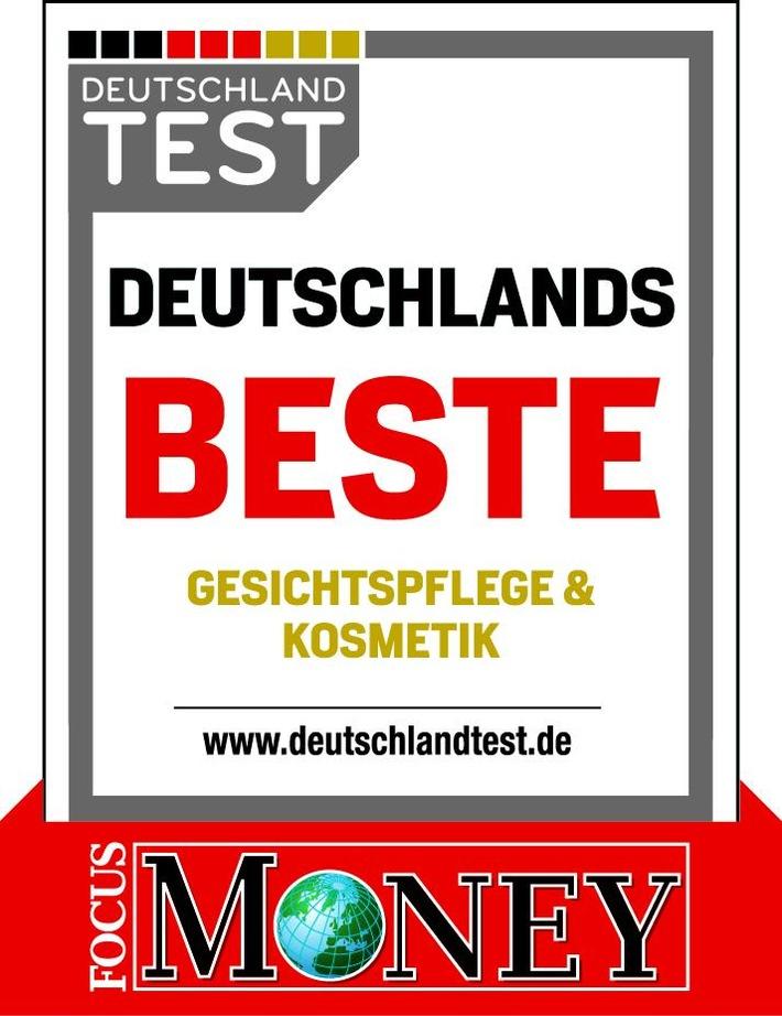 """Auszeichnung """"Deutschlands Beste Gesichtspflege & Kosmetik"""". Weiterer Text über ots und www.presseportal.de/nr/109254 / Die Verwendung dieses Bildes ist für redaktionelle Zwecke honorarfrei. Veröffentlichung bitte unter Quellenangabe: """"obs/Börlind GmbH/Focus Money"""""""