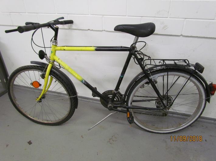 Eigentümer dieses Fahrrades gesucht