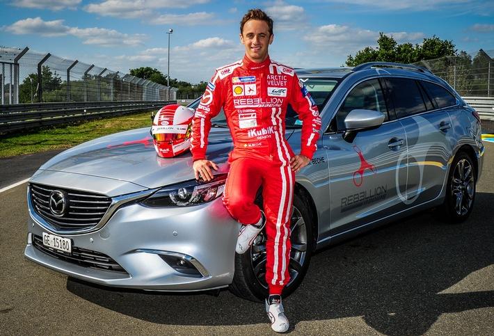 Mazda au Mans avec Mathias Beche
