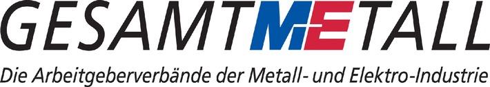 """Neues Logo des Arbeitgeberverbandes Gesamtmetall. Die Verwendung dieses Bildes ist für redaktionelle Zwecke honorarfrei. Abdruck bitte unter Quellenangabe: """"obs/Arbeitgeberverband Gesamtmetall"""""""