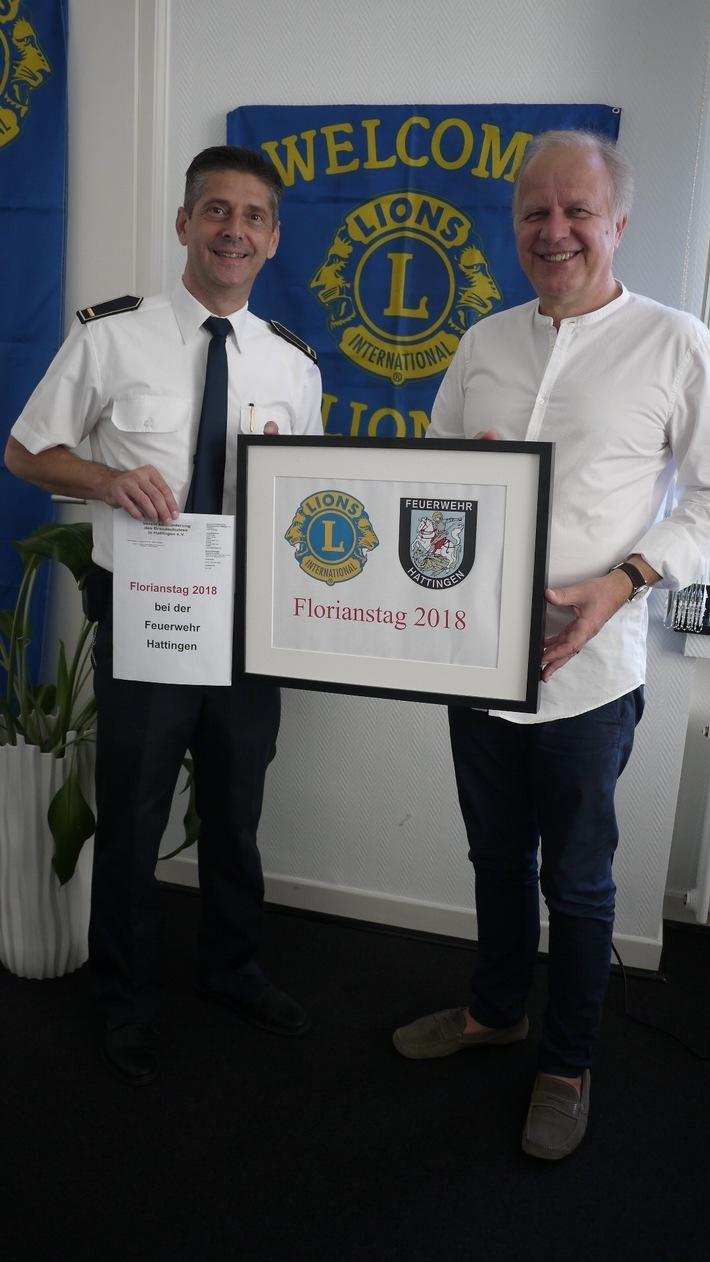 v.r. Schirmherr Bürgermeister Dirk Glaser und Leiter der Feuerwehr Tomás Stanke