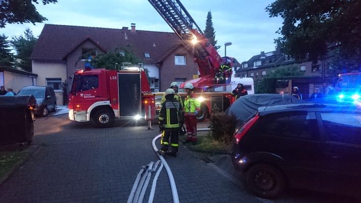 Foto: Feuerwehr Bochum, Einsatz einer DLK