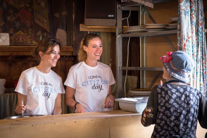 """180 collaborateurs de L'Oréal Suisse se mobilisent pour le Citizen Day, une journée d'engagement où chacun a un rôle à jouer. Texte complémentaire par ots et sur www.presseportal.ch/fr/nr/100051682 / L'utilisation de cette image est pour des buts redactionnels gratuite. Publication sous indication de source: """"obs/L'Oréal Suisse SA/Christian Pfahl"""""""