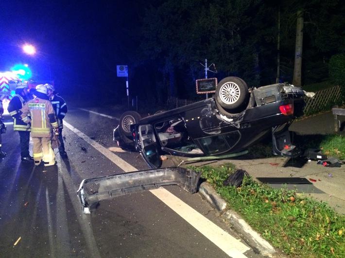 Zu einem schweren Verkehrsunfall kam es am frühen Samstagmorgen auf der Zweifaller Straße (L 238)