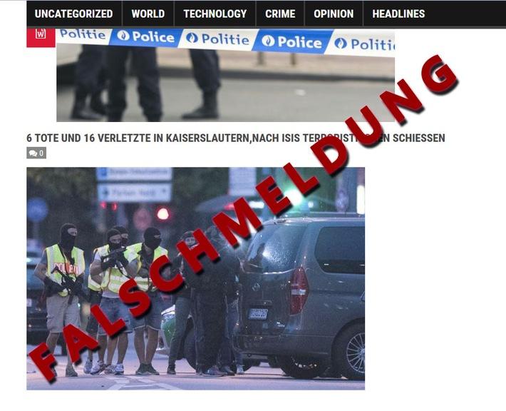 POL-PPWP: Falschmeldung zu angeblicher Schie�erei kursiert im Internet