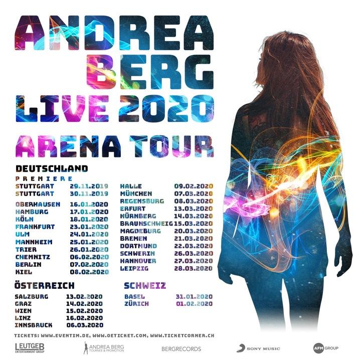 BILD zu OTS - Artwork Andrea Berg LIVE 2020 ARENA TOUR