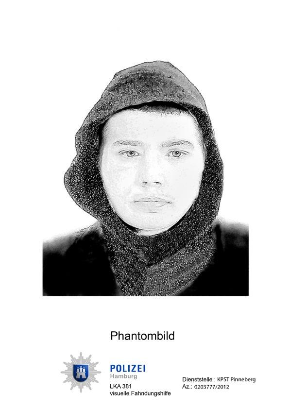 Phantombild des bewaffneten Räubers Halstenbek