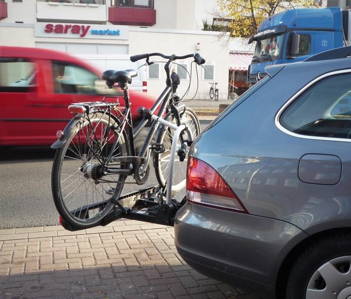 Die Polizei stellte das Fahrrad sicher.