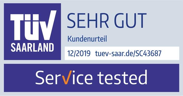 """Note """"sehr gut"""" für den Service der Hanseatic Bank"""