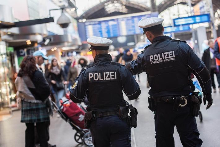 Eine Streife der Bundespolizei im Hauptbahnhof- Symbolfoto Bundespolizei