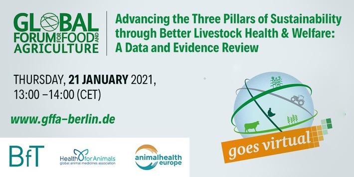 Global Food and Feed Forum - Die Tiergesundheit ist mit einem Fachpodium im Rahmen der digitalen Grünen Woche vertreten (FOTO)