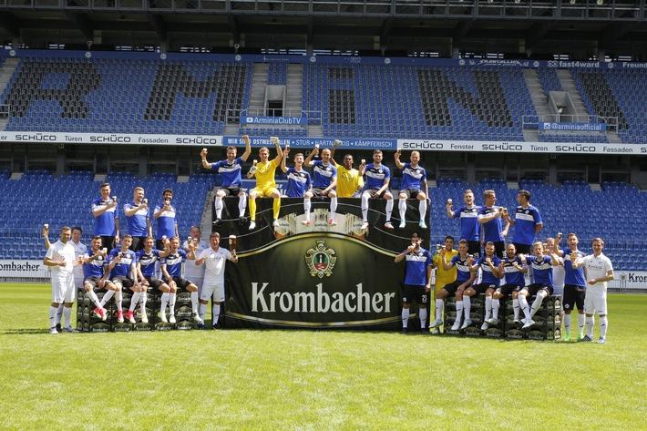 Krombacher Brauerei setzt Sponsoring bei Arminia Bielefeld fort