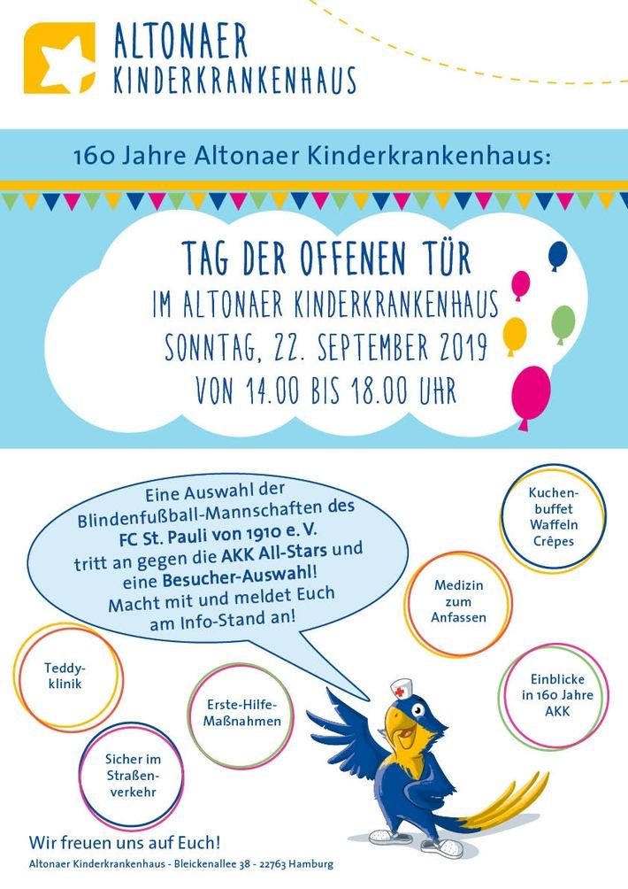 Tag der offenen Tür im Altonaer Kinderkrankenhaus am 22.09.2019 / Weiterer Text über ots und www.presseportal.de/nr/130900 / Die Verwendung dieses Bildes ist für redaktionelle Zwecke honorarfrei. Veröffentlichung bitte unter Quellenangabe: