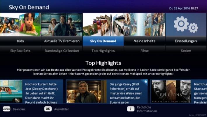 Ausbau der Kooperation mit der Deutschen Telekom: Sky On Demand und Sky Box Sets starten auf dem neuen EntertainTV