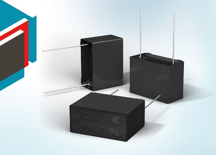 Distrelec erweitert Panasonic-Sortiment um ECQUA-Folienkondensatoren