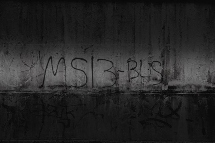 "Botschaft der Jugendgang MS-13: Das Graffiti demonstriert ein ""Wir waren hier!"" der lokalen Gruppierung ""Brentwood Locos ..."
