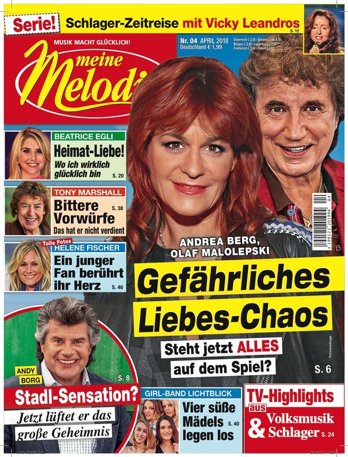 """Cover 4/2018; EVT: 22. März. Weiterer Text über ots und www.presseportal.de/nr/7235 / Die Verwendung dieses Bildes ist für redaktionelle Zwecke honorarfrei. Veröffentlichung bitte unter Quellenangabe: """"obs/Meine Melodie"""""""