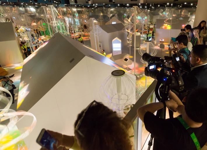 """Schweizer Pavillon an der Expo2017 in Astana / Weiterer Text über ots und www.presseportal.ch/de/nr/100017100 / Die Verwendung dieses Bildes ist für redaktionelle Zwecke honorarfrei. Veröffentlichung bitte unter Quellenangabe: """"obs/Expomobilia AG"""""""
