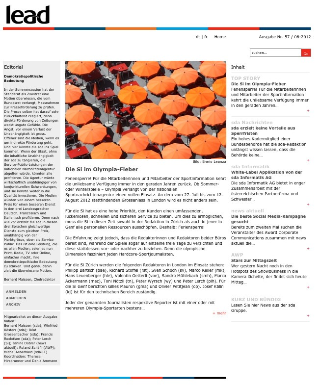 sda-Newsletter: Olympia-Fieber, Sperrfristen und die beste Social Media-Kampagne