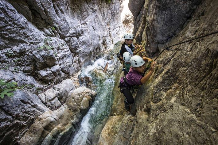 Röbischlucht: Im Sommer 2014 wird sich der Aktivclub Montafon verstärkt auf Klettern konzentrieren.