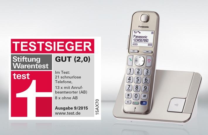 Stiftung Warentest Testsieg Fur Das Panasonic Grosstastentelefon KX TGE210 Schwestermodell TGE220