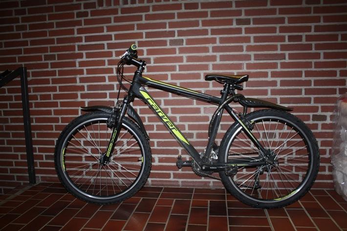 aufgefundenes Fahrrad
