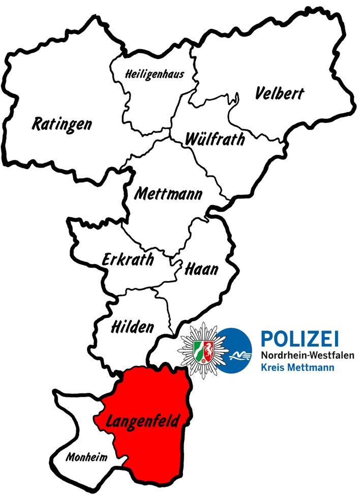 Kreiskarte Langenfeld