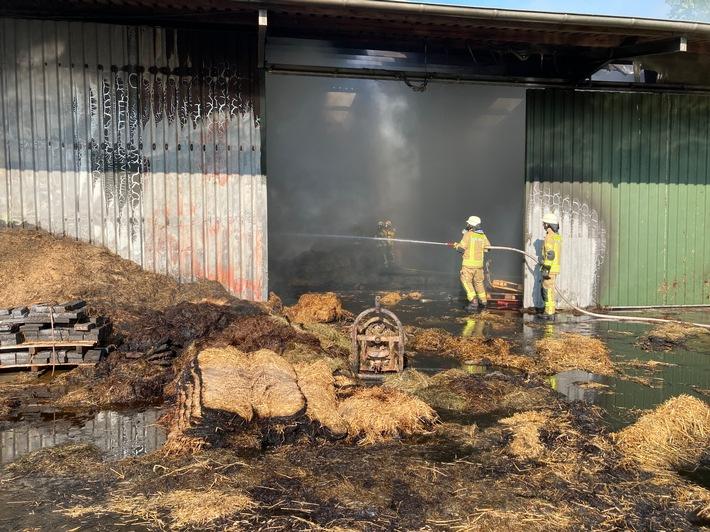 FW-LK Leer: Feuer in Maschinenhalle