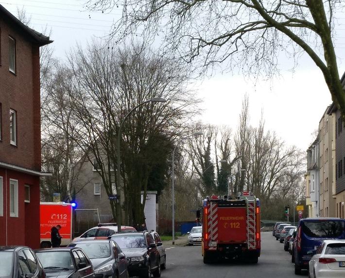 Feuerwehreinsatz Gelsenkirchener Straße.