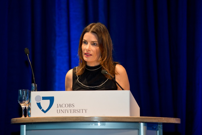 Annette Kroeber-Riel, Google's Senior Director Public Policy & Government Relations, was the key note speaker at the graduation ceremony. Photo: Jacobs University
