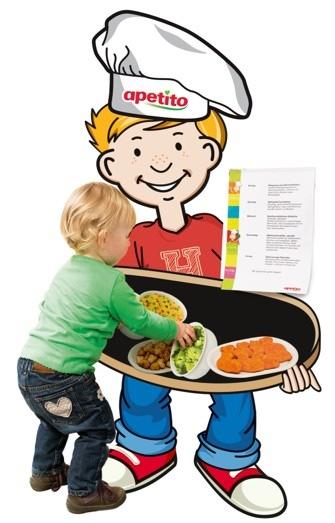 Harrys Bilder-Speiseplan zeigt durch Abbildungen schon den kleinsten Besuchern was es zu essen gibt.