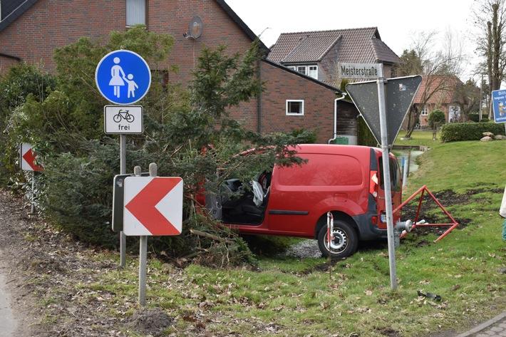 POL-DEL: Landkreis Wesermarsch: Verkehrsunfall mit über 3 Promille in Elsfleth verursacht