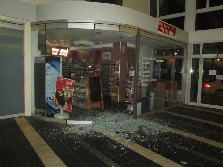 BPOL-TR: Unbekannte brechen Bahnhofs-Kiosk auf