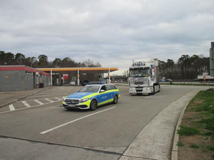 Große Alkohol-Fahndung bei LKW-Fahrern rund um das Walldorfer Kreuz